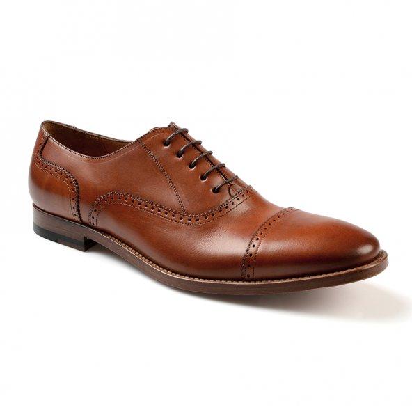 De Marchi Hakiki Deri Kahve Kösele Erkek Ayakkabı