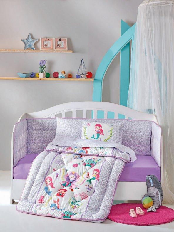 Cotton Box Denizkızı Lila Ranforce Bebek Uyku Seti