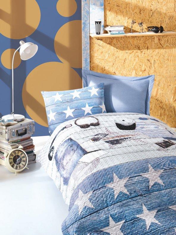 Cotton Box Modus Mavi Ranforce Dört Mevsim Set  Tek Kişilik