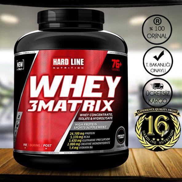 Hardline Whey 3 Matrix 2300 gr Protein Tozu Skt:02.2021