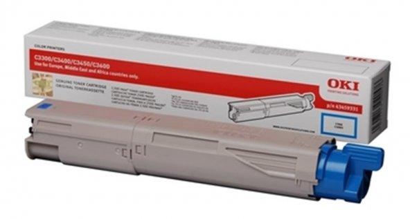 Oki Toner Mavi C3300-3400-3450-3600(43459347)(2500 Sayfa)