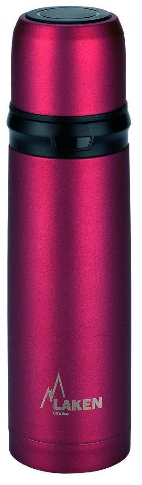 Laken İspanya Üretimi Çelik Termos 0,50L Kırmızı LK180050R