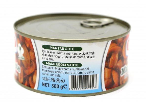 Doğan Çiftliği Konserve Mantar Sote 300gr  6lı Paket. (DK18)
