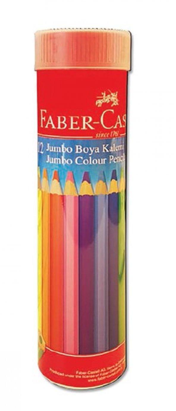 Faber Castell -Jumbo Kuru Boya 12li Renk