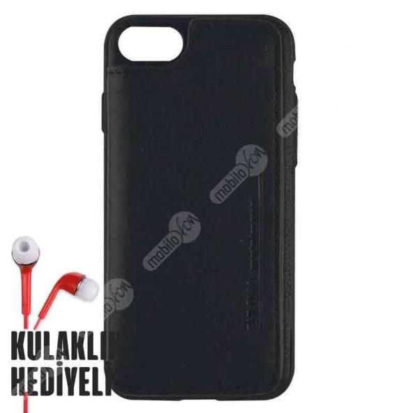 Puloka Apple iPhone 7 - 8 Multi-Function Deri Cüzdanlı Kılıf - Siyah