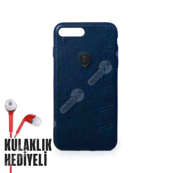 Puloka Apple iPhone 7 - 8 Exquisite Series Deri Kılıf - Lacivert
