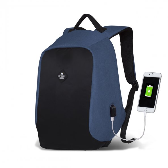 My Valice Smart Bag SECRET Usb Şarj Girişli Akıllı Sırt Çantası 7 RENK