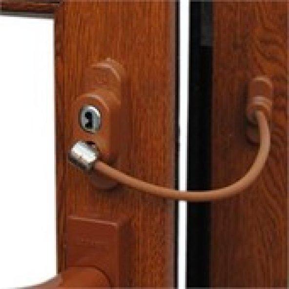 Pimapen Kapı, Pencere Çocuk Emniyet Kilidi  - Halatlı-Anahtarlı Açık Kahve 5'li Paket