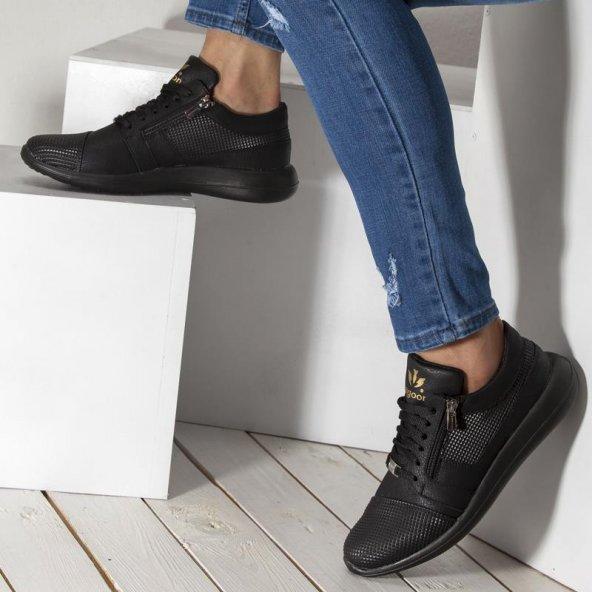 Wagoon Fermuar Detaylı Baskılı Erkek Sneaker Ayakkabı
