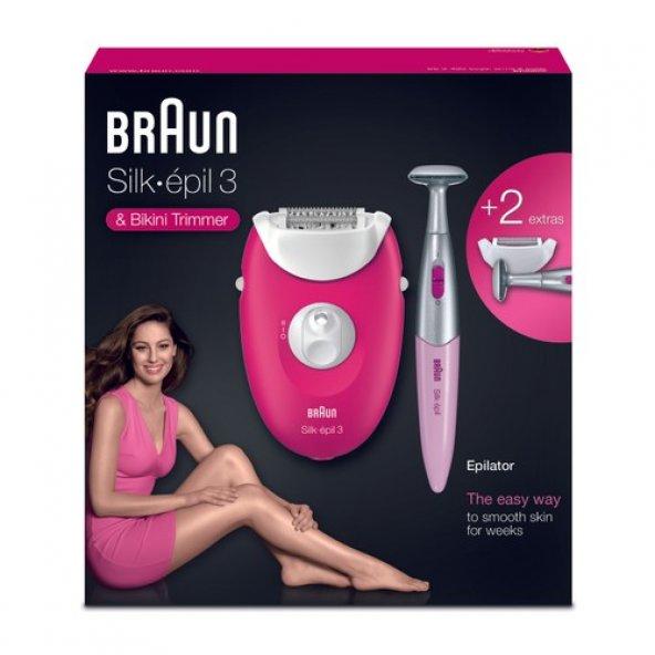 Braun Silk-epil 3 3420 + Bikini Trimmer Epilatör