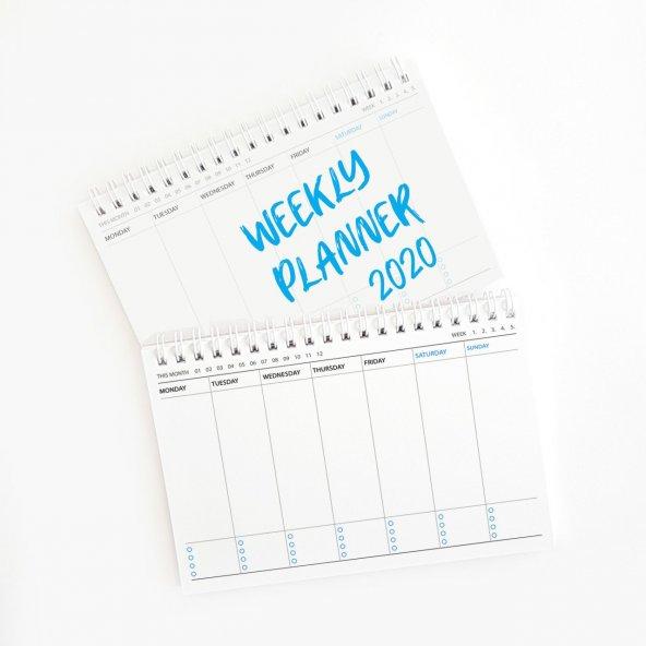 Haftalık Planlayıcı (Sümen) - Küçük Boy Mavi