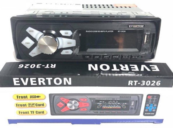 Everton RT-3026 Usb, Sd, Fm , Aux Oto Teyp
