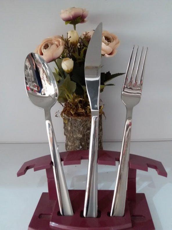 Güral Porselen Çelik 89 Parça Sandıklı Çatal Bıçak