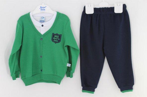 Sema Bebe Ngz Nakışlı Takım Erkek Bebek Giyim