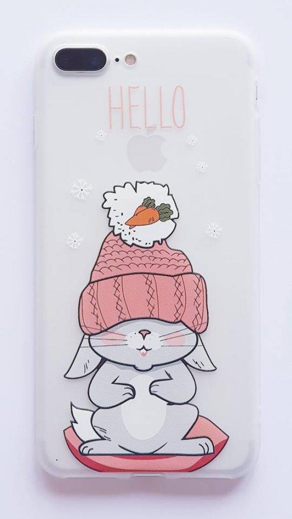 I Phone 7 Plus - 8  Plus Flamingo Telefon Kılıfı