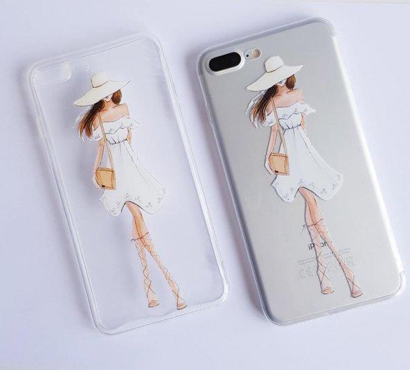 I Phone 7 Plus - 8  Plus Dress Girl Telefon Kılıfı