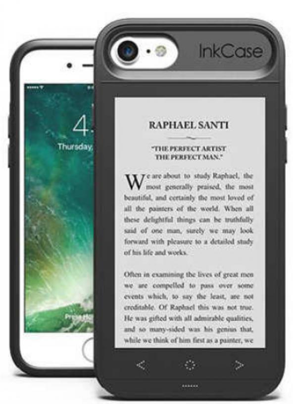 Oaxis InkCase i7 Siyah iPhone Uyumlu Akıllı Kılıf