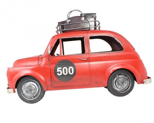 1950 Model 500 Eskitilmiş Metal Araba Kırmızı GT-066 qq
