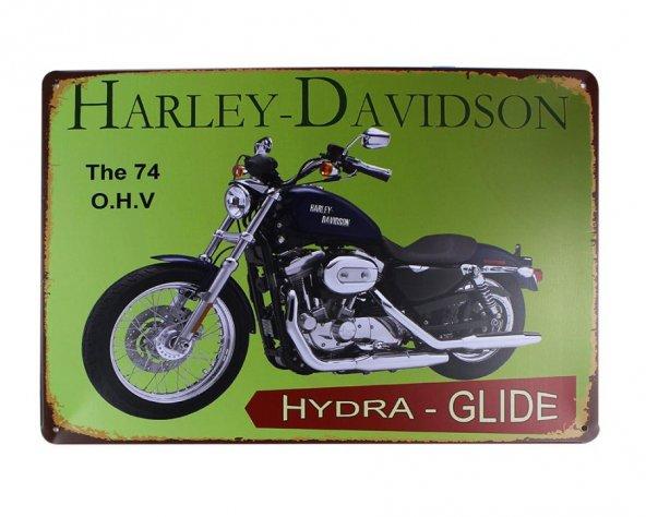 Dekoratif Vintage Metal Pano Harley Motor 20x30