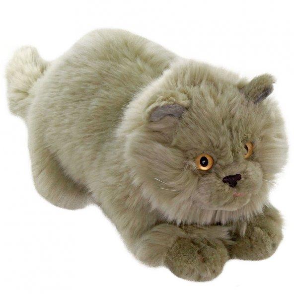 Animals Of The World Yatan Gri Kedi Peluş Oyuncak 26 cm