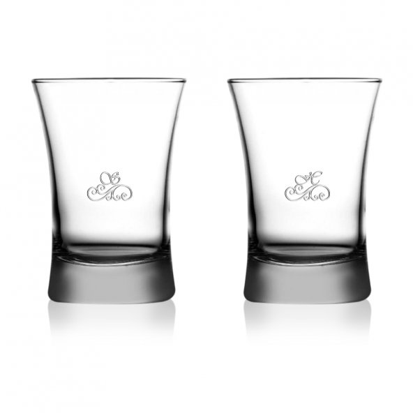 Kişiye Özel 2li Azur Su & Meşrubat Bardağı