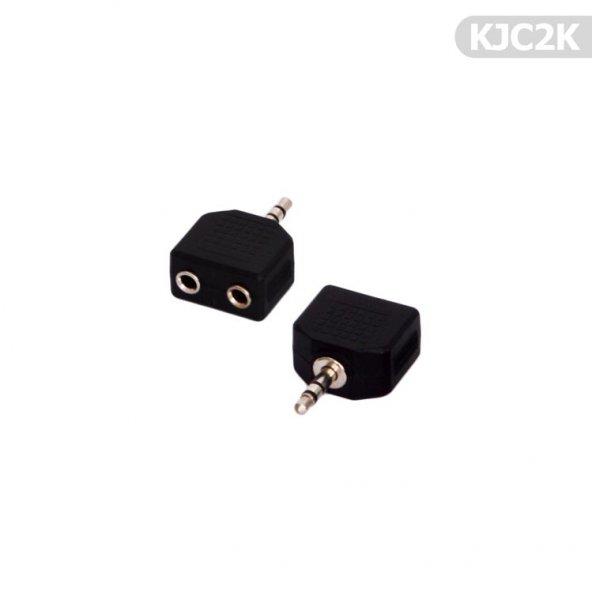 Kablo Jak Çoğaltıcı 2li 3.50mm KJC2K