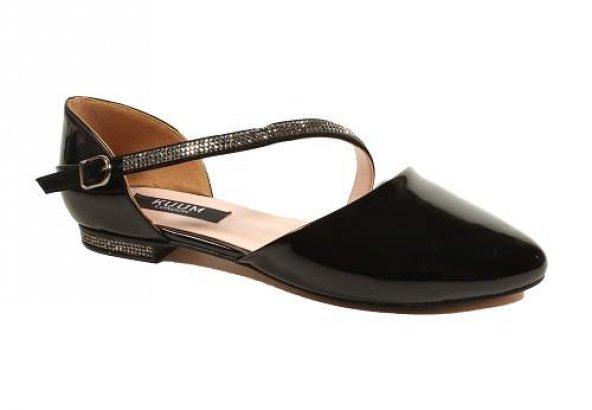 Kuum KZ1004 Siyah Rugan Kadın Ayakkabı