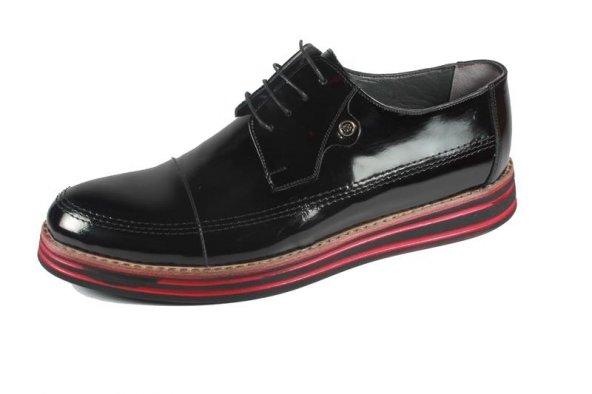Pablo 220-23 Siyah Rugan Erkek Ayakkabı