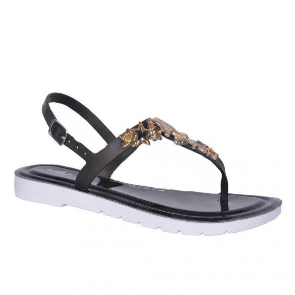 Akınalbella 0200 Düz Taban Parmak Arası Bayan Yazlık Sandalet