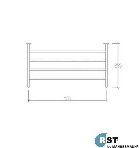 RST® MANNESMANN Destekli Raf Havluluk - 304 Paslanmaz Çelik - Par