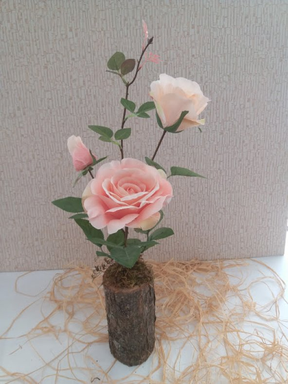 Yapay Çiçek Şakayık Gül Tanzim Ağaç Tanzim