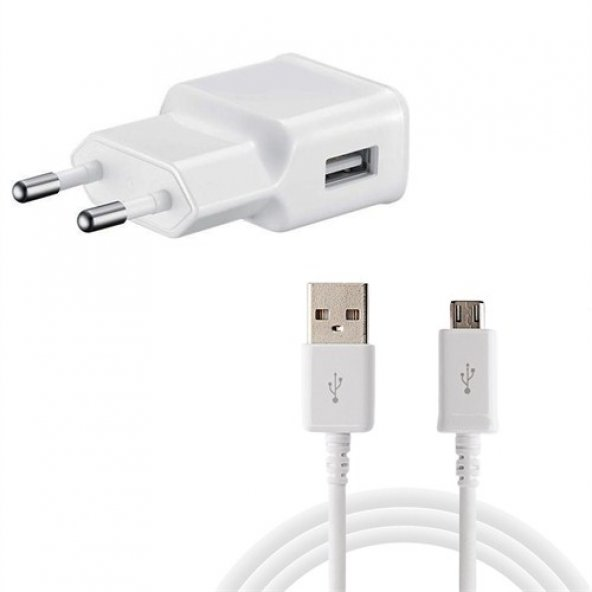 2,1AMPER   ŞARJ ALETİ  USB BAŞILIK + USB KABLO