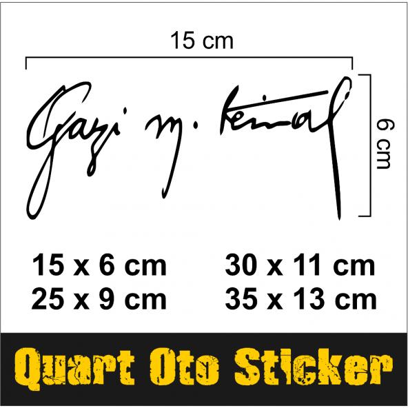 2 Adet Araba Gazi Mkemal Atatürk Imza Oto Araç Sticker Epttavm