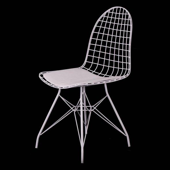 Evform Oval Tel Sandalye Mutfak Bahçe Ofis Sandalyesi
