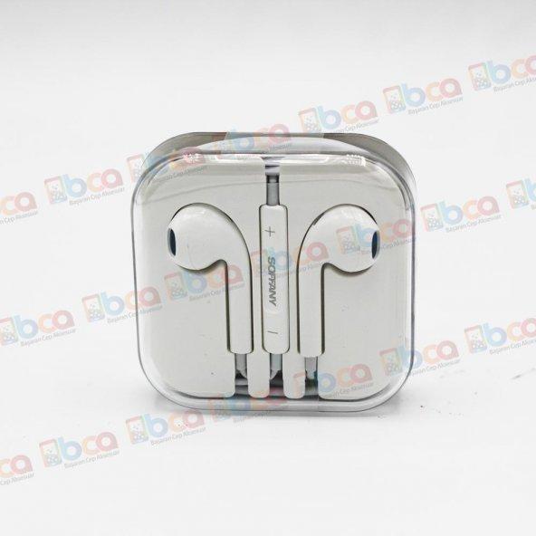 Huawei P8 Lite Uyumlu Soffany Earpods Mikrofonlu Kulaklık A+ Kalite