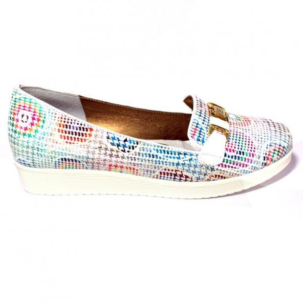 Mammamia 925 Hakiki Deri Bayan Günlük Ayakkabı