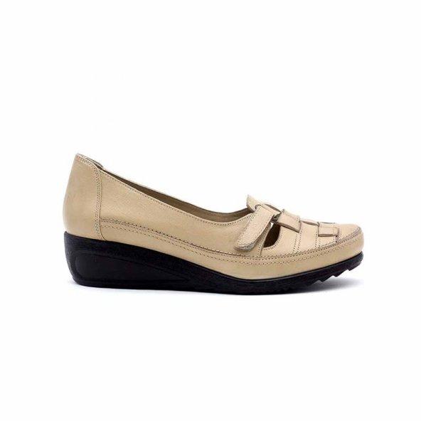 Evida 2475 Hakiki Deri Kadın Ayakkabı