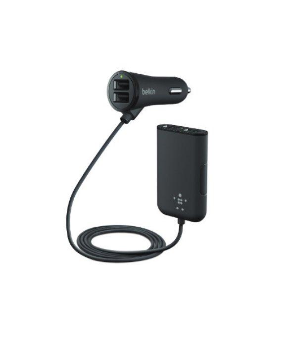 Belkin Road Rockstar 4x USB Araç içi Şarj + Arka Koltuk Erişimi
