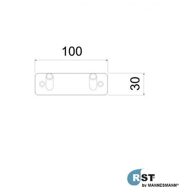 RST® MANNESMANN Set Askı 2Li - 304 Paslanmaz Kalite
