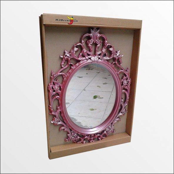 50x70cm Oymalı İşlemeli Rustik Desenli Cam Antik Duvar Boy Aynası