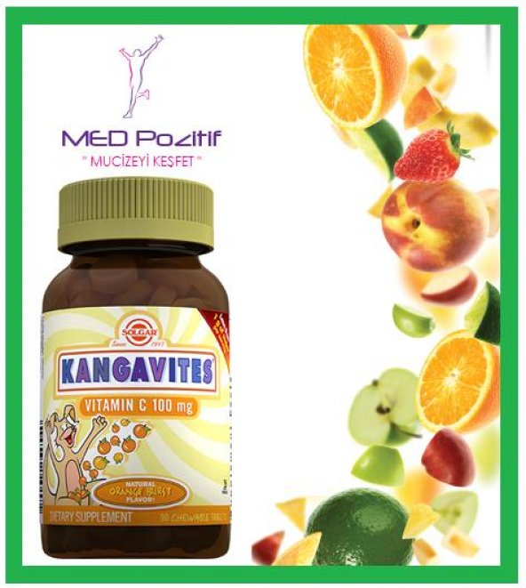 Solgar Kangavites® Vitamin C 100 mg 90 Çiğ. Tableti