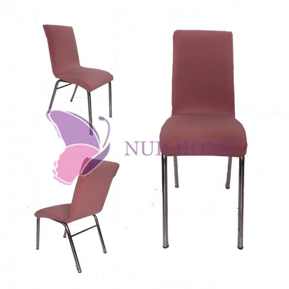 Lastikli Sandalye Kılıfı Pudra Mutfak Tipi M2 (Renk-26)
