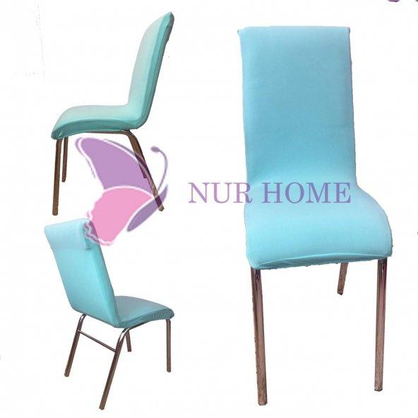 Lastikli Sandalye Kılıfı Turkuaz Mutfak Tipi M2 (Renk-25)