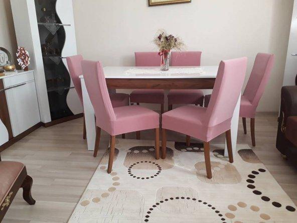 Nur Home Pudra Renk Sandalye Kılıfı (Renk-26)