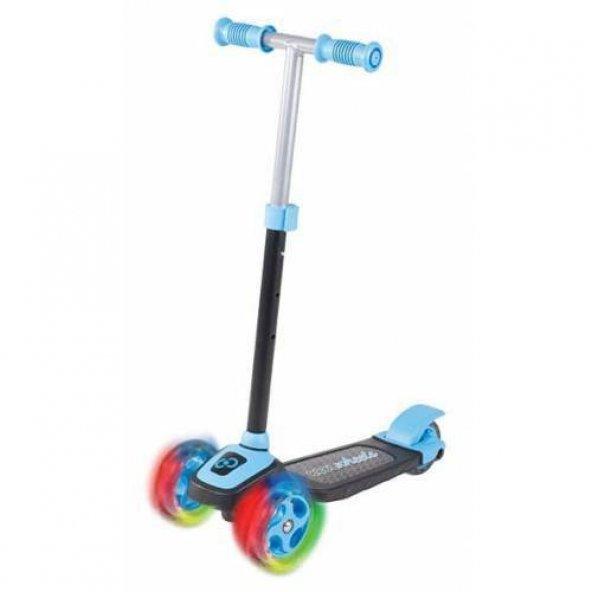 Cool Wheels 3 Tekerlekli Twistable Frenli Işıklı Scooter Mavi