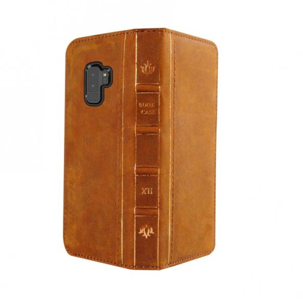 Wachikopa Samsung Galaxy S9 Hakiki Deri Kılıf Book Case Boni Kahv