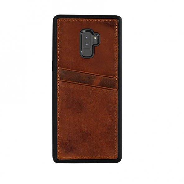 Wachikopa Samsung Galaxy S9 Plus Hakiki Deri Kapak Back Cover CC