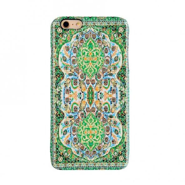 Wachikopa Apple iPhone 6 / 6S Plus Kapak Verde El Yapımı Kilim De