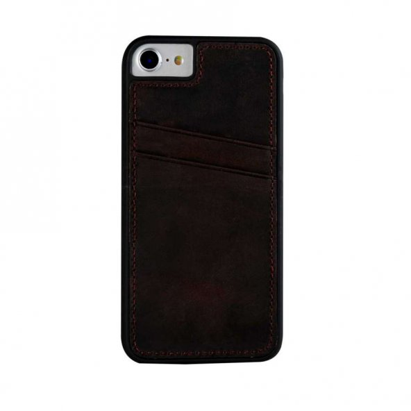 Wachikopa Apple iPhone 6 / 6S Plus Hakiki Deri Kapak Back Cover C