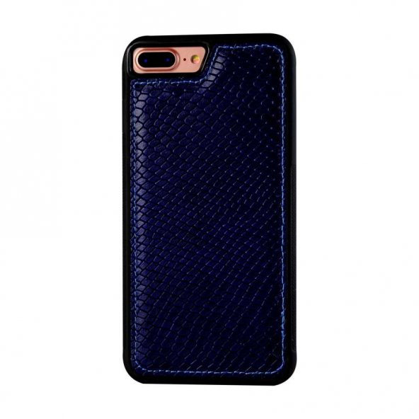 Wachikopa Apple iPhone 7 / 8 Plus Hakiki Deri Kapak Back Cover Va